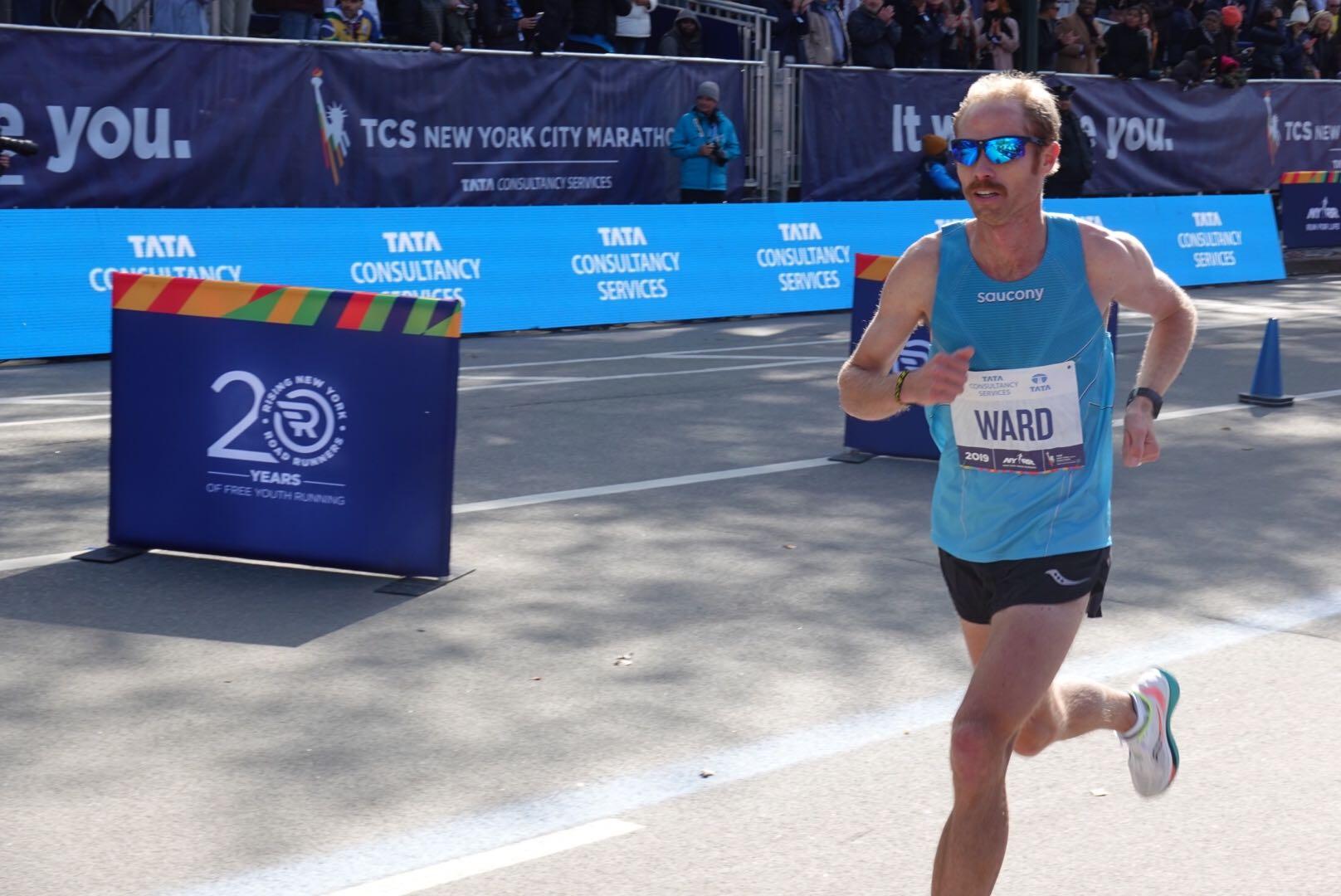 Jared Ward, top American in the 2019 New York City Marathon