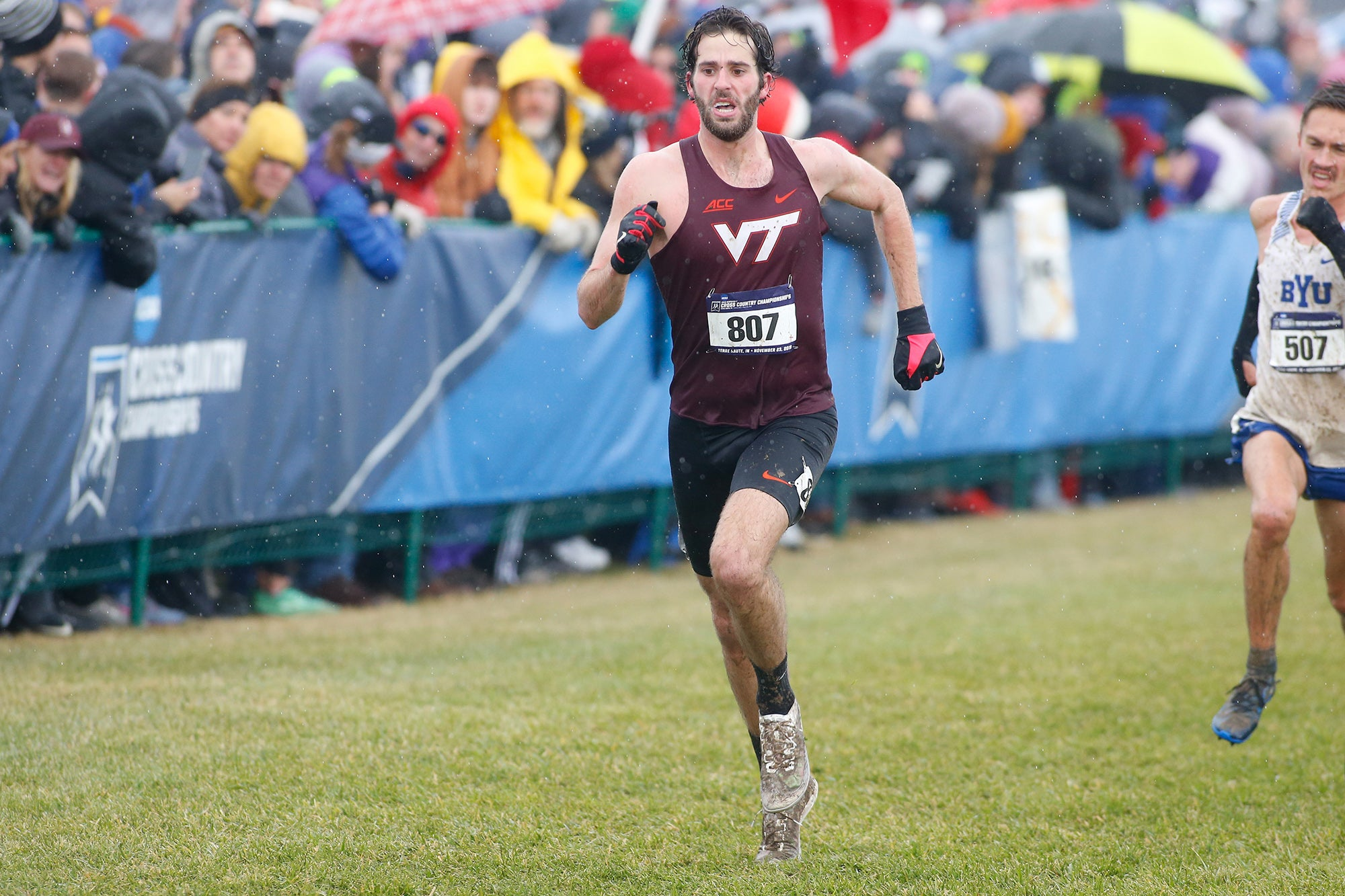 Peter Seufer finishing NCAA Cross Country Championships