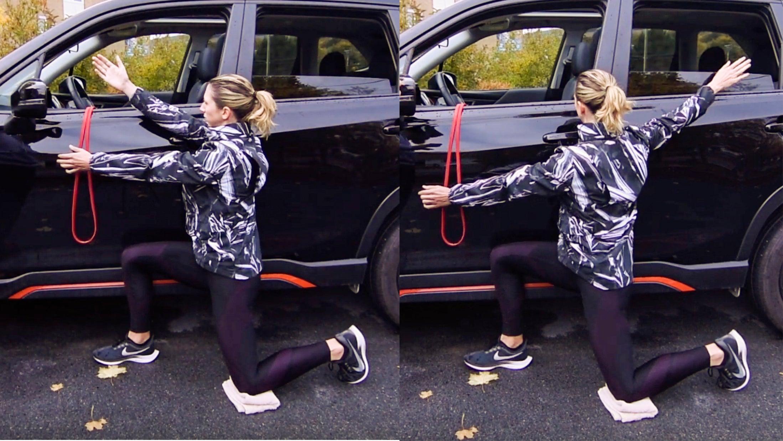 single arm shoulder circle exercise