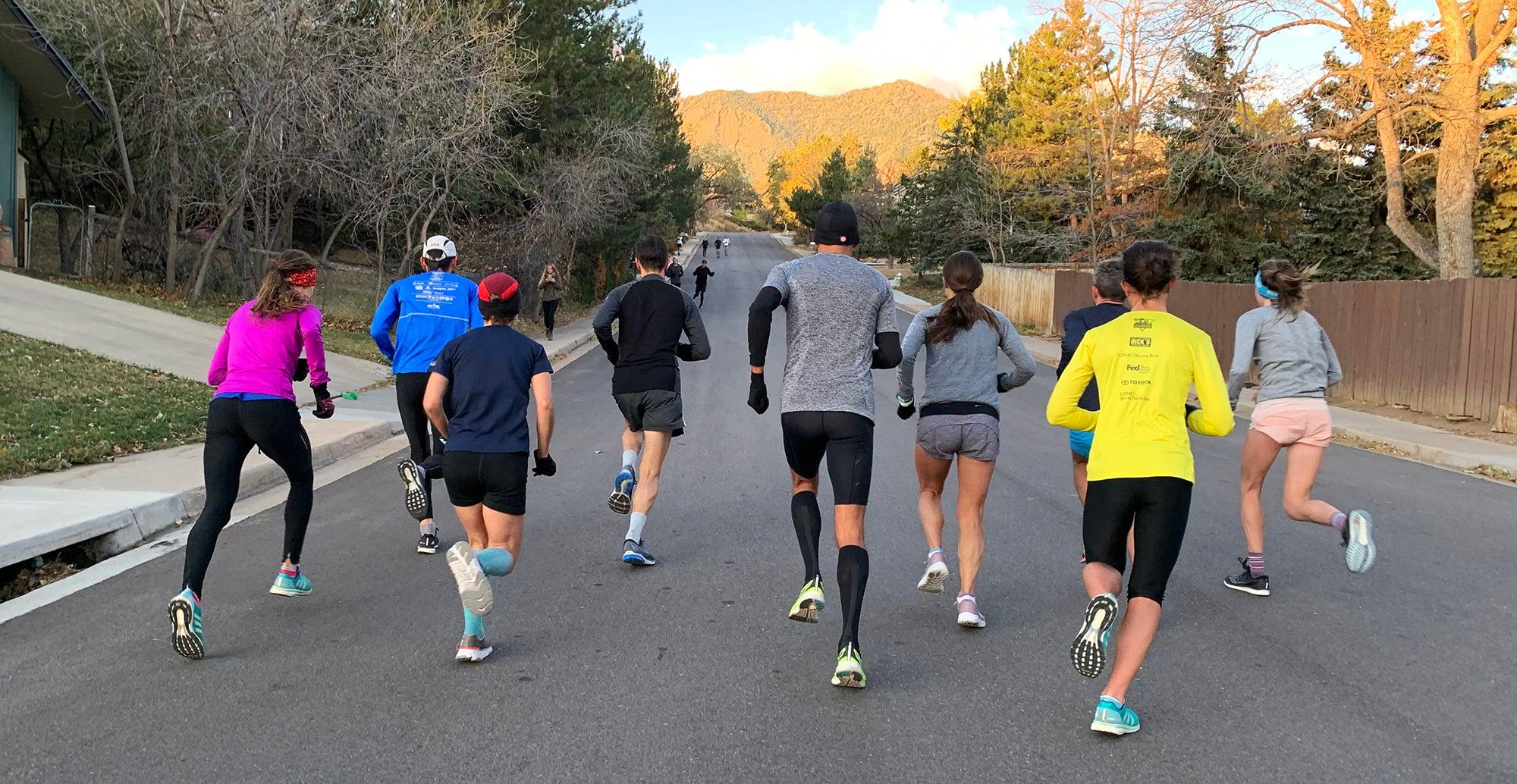 strides uphill Boulder Track Club