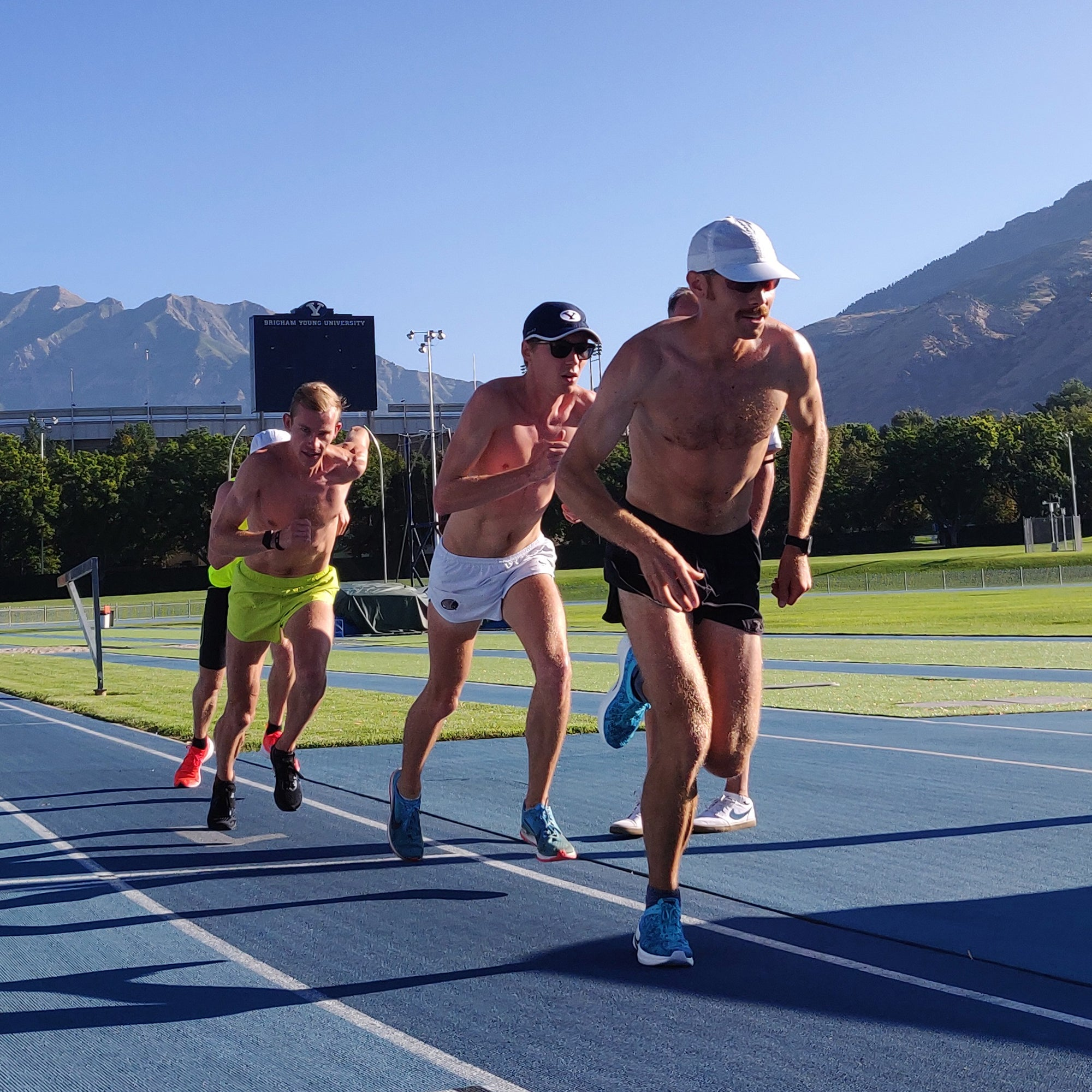 Jared Ward, Connor McMillan track workout