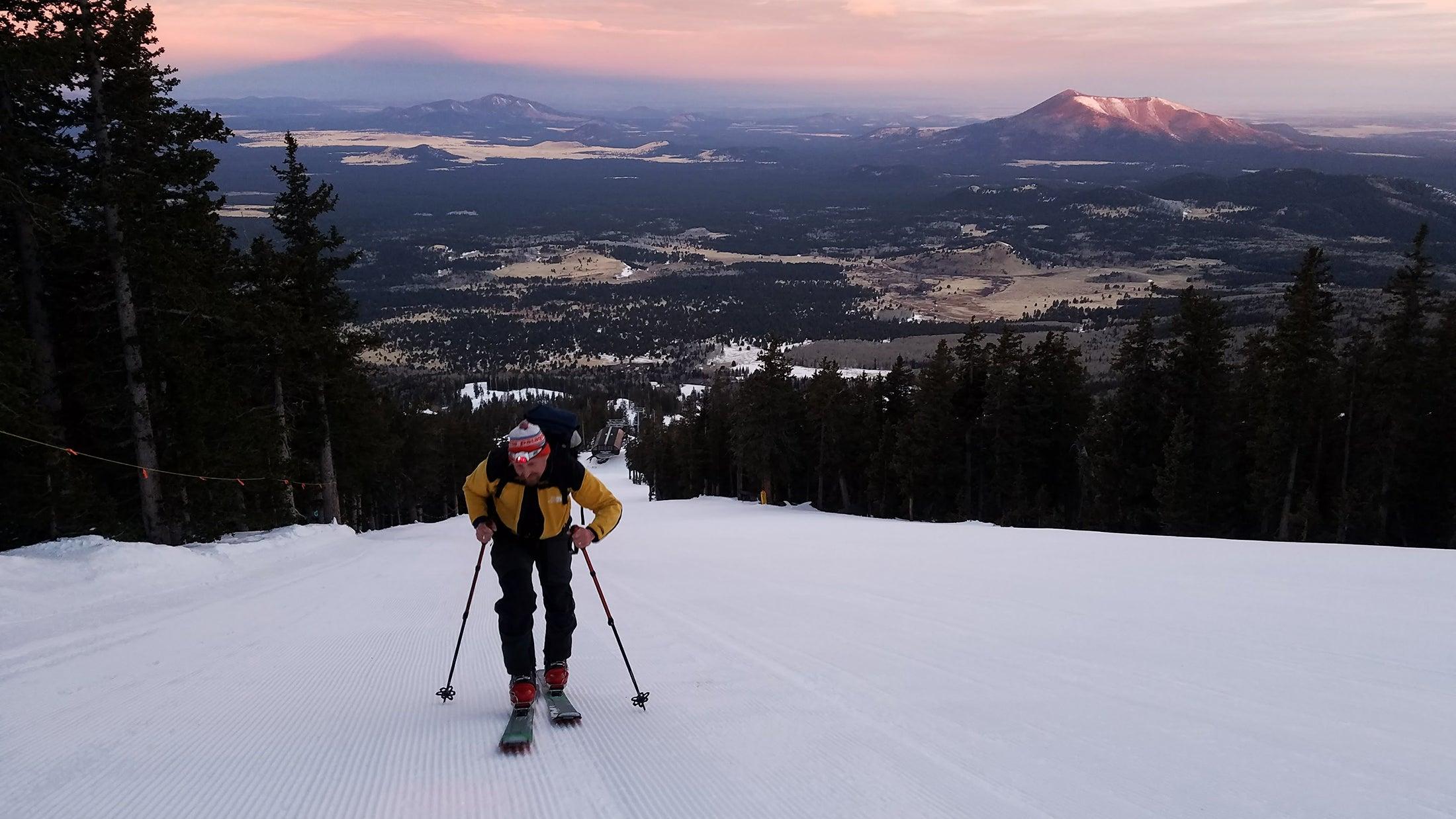 uphill climb skimo