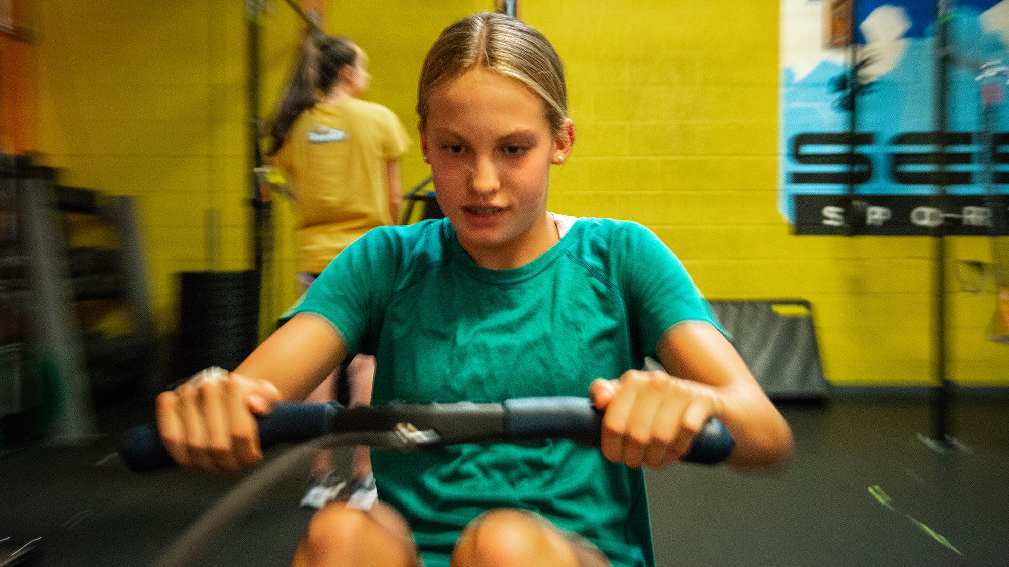 high school runner rowing off-season