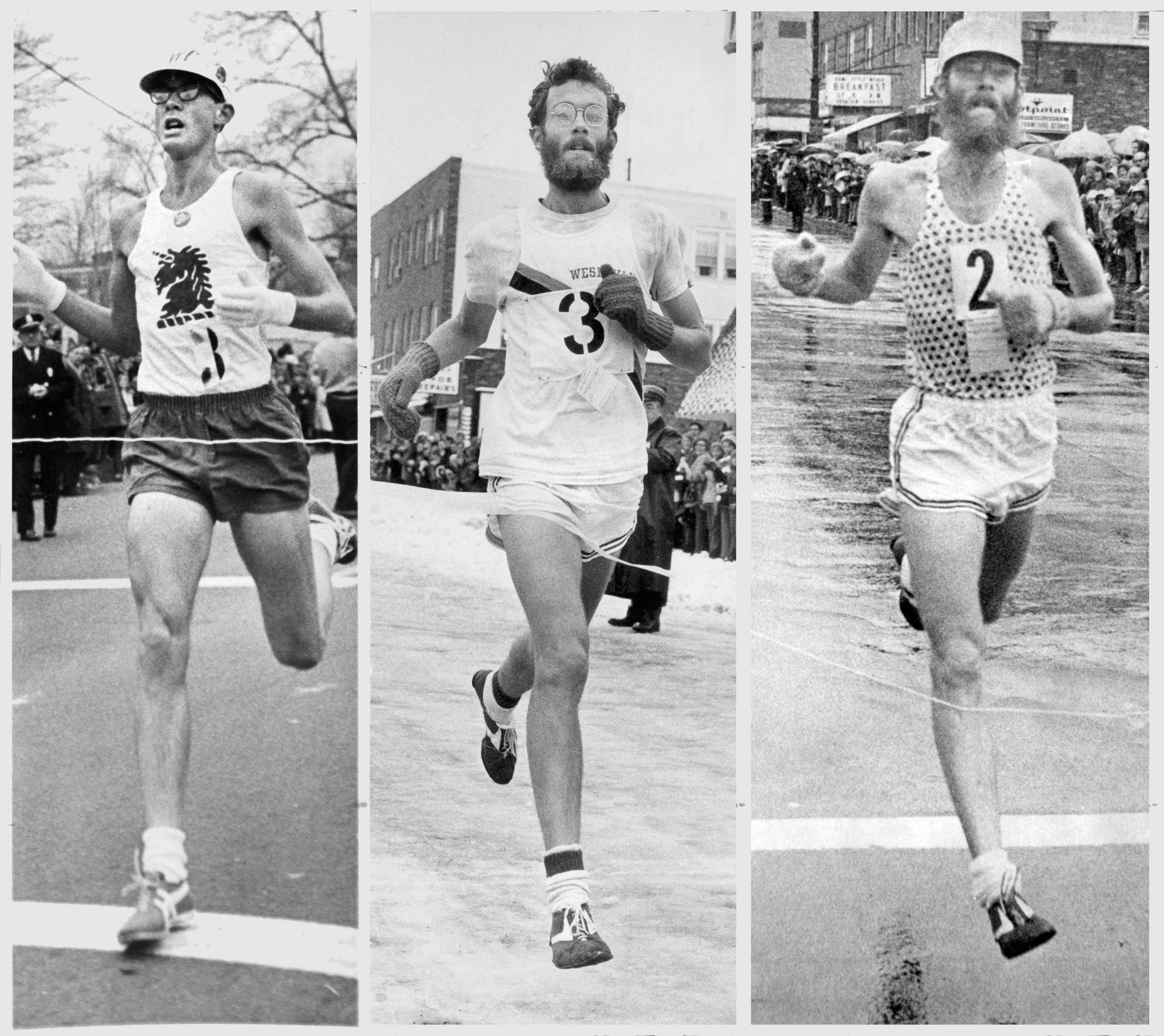 Burfoot winning MRR in 1968, 1971 and 1975