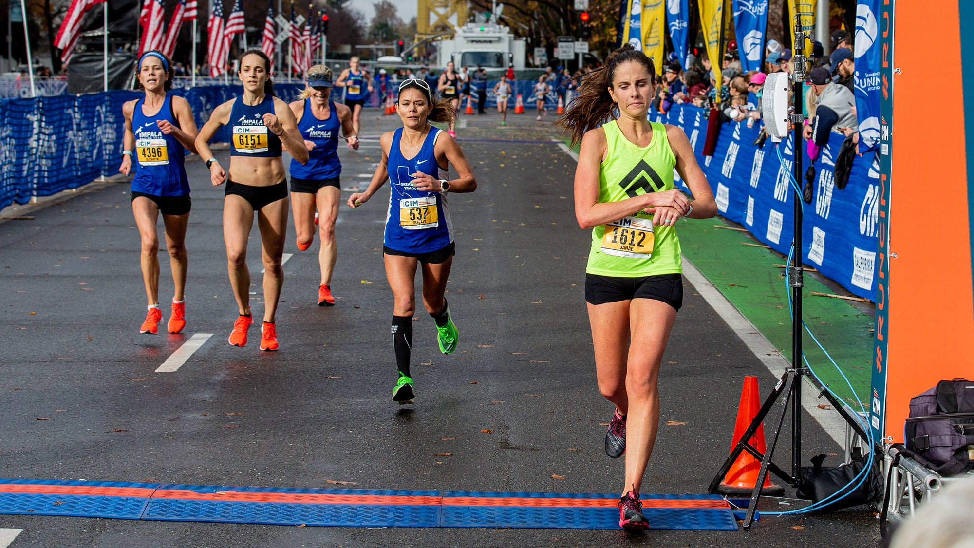 Janae Baron finishing CIM