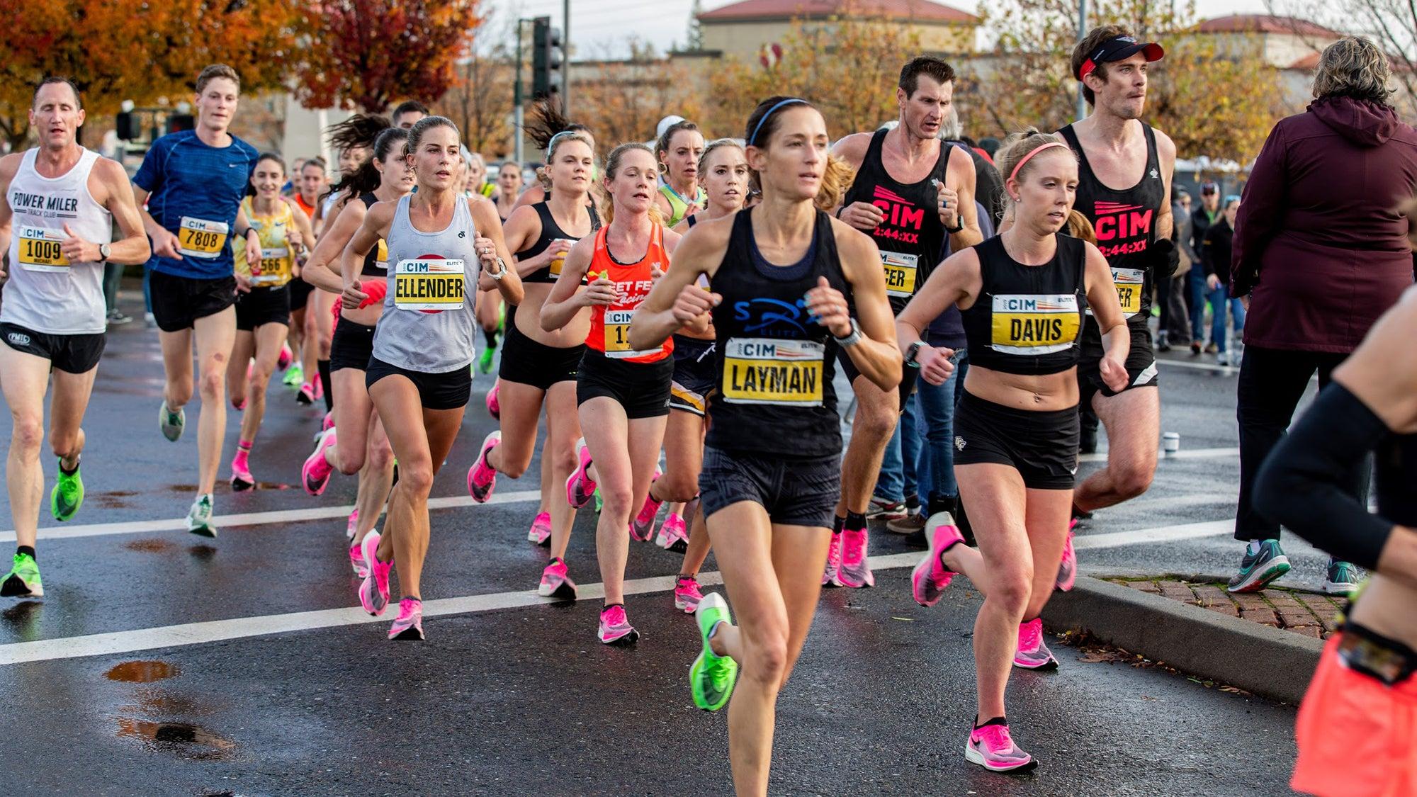 CIM women's OTQ pace group