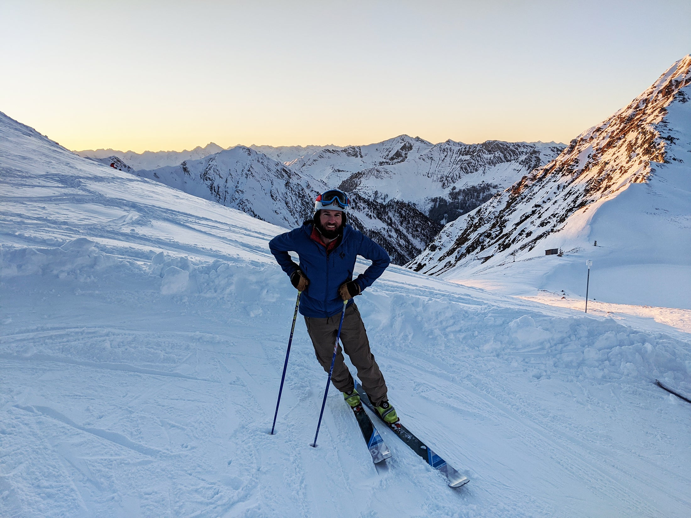 Bob Tusso after skinning up, in Austria