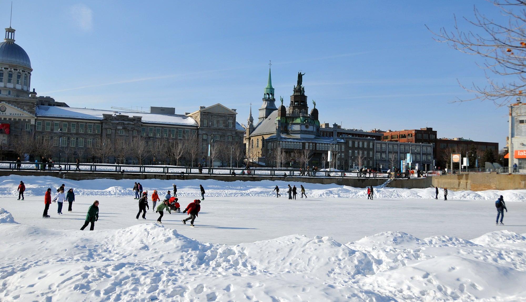 Montreal winter running city