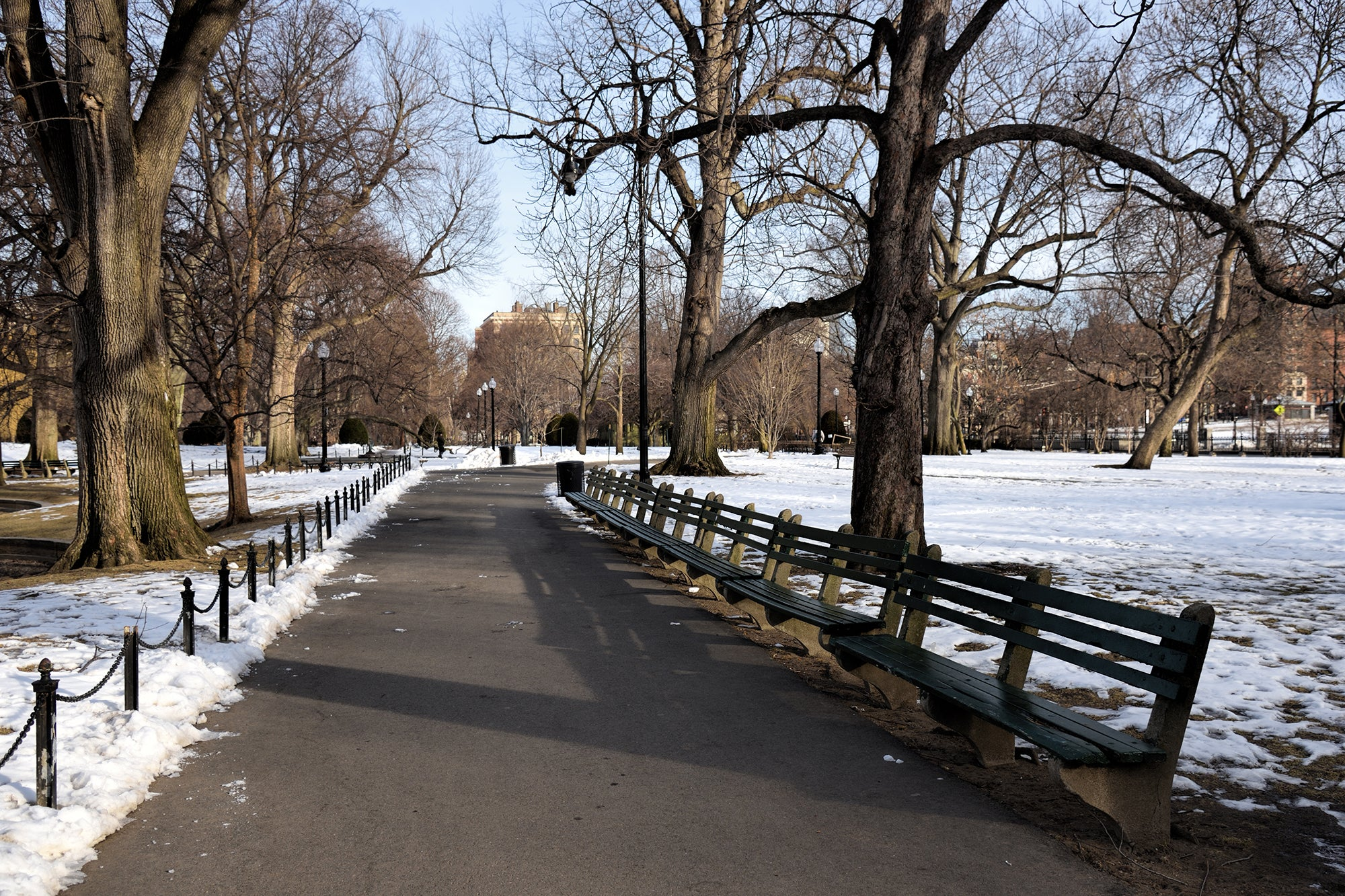 Boston winter running city