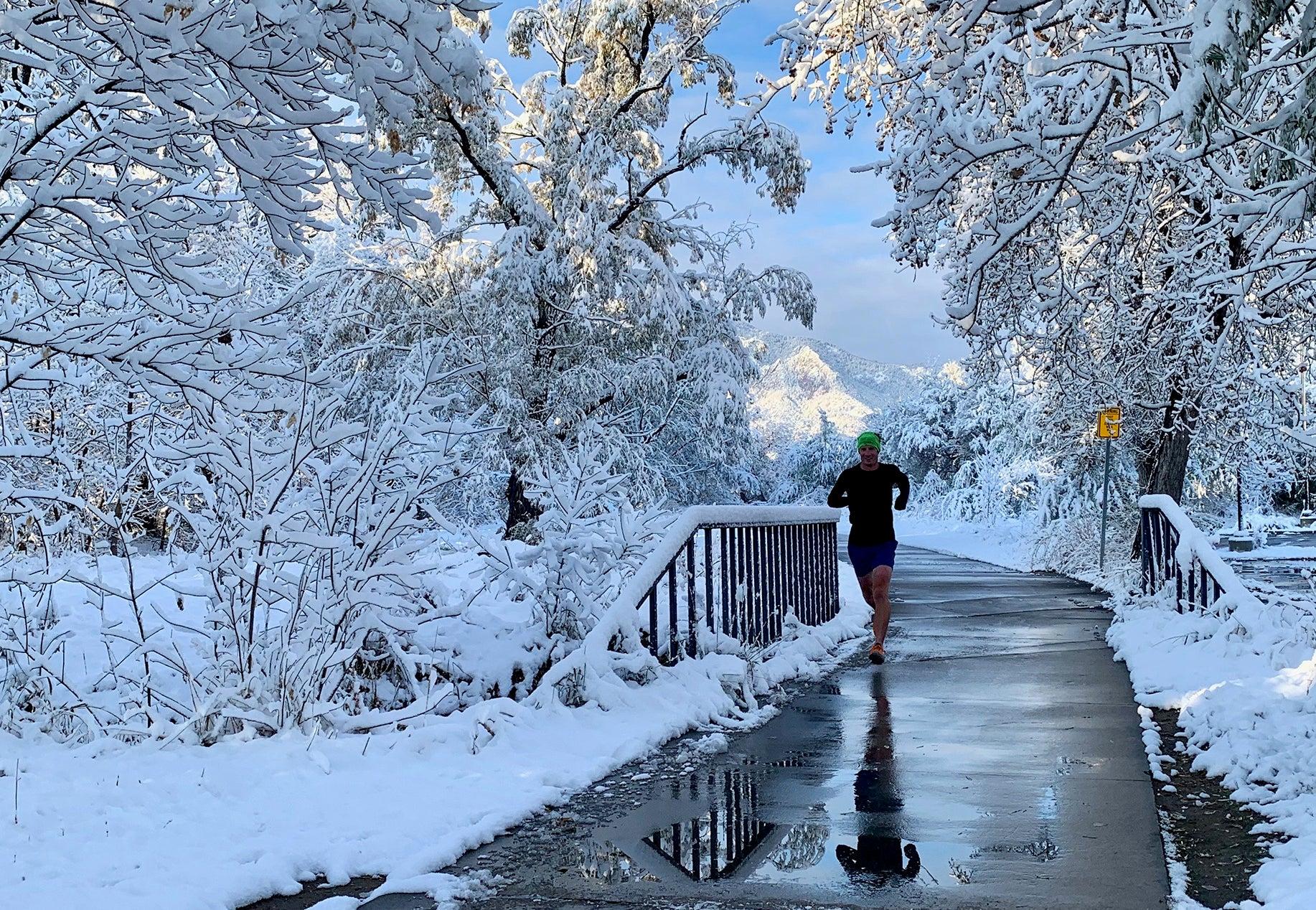 slippery surface winter running