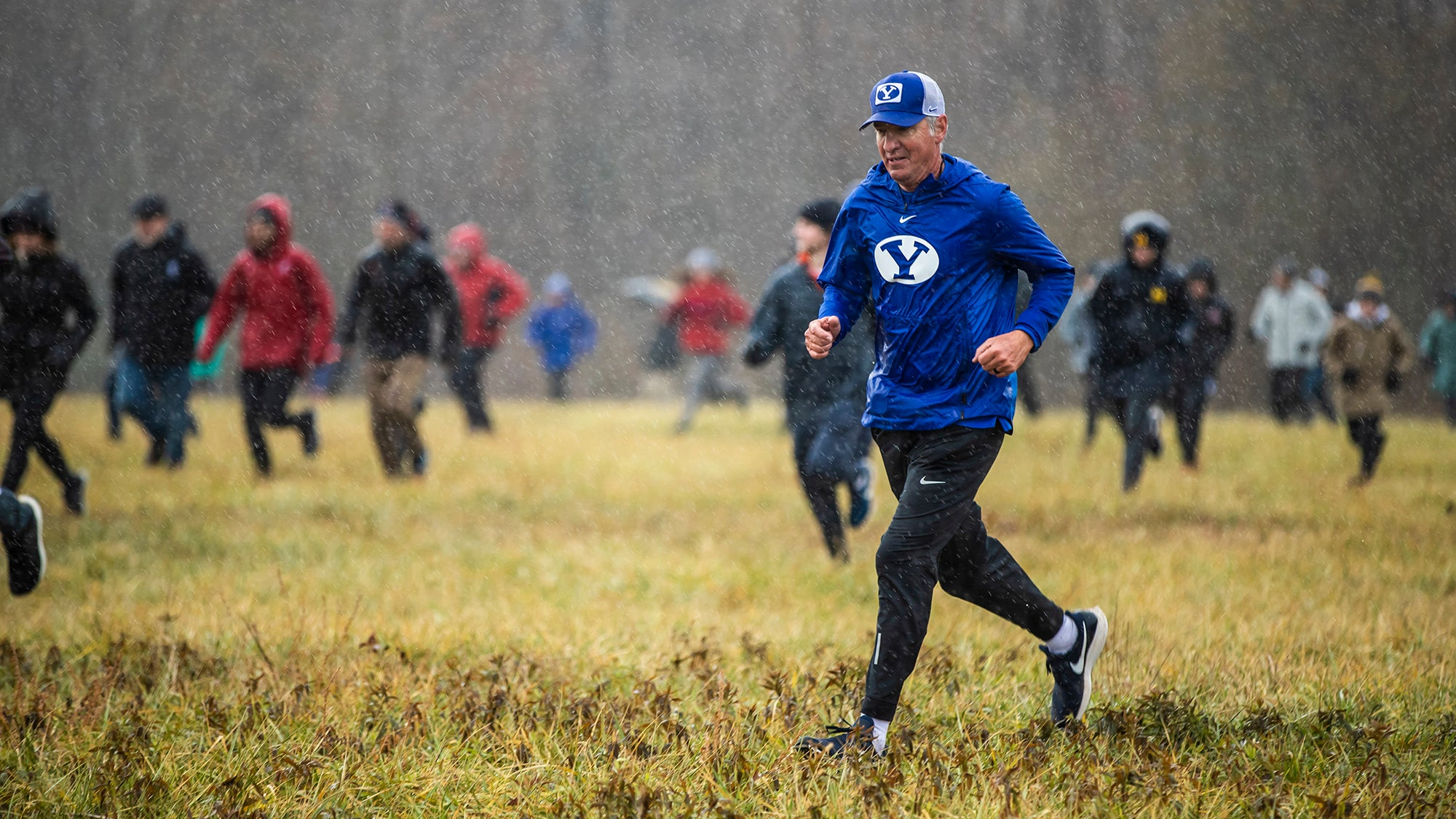 Ed Eyestone at NCAA XC Championships