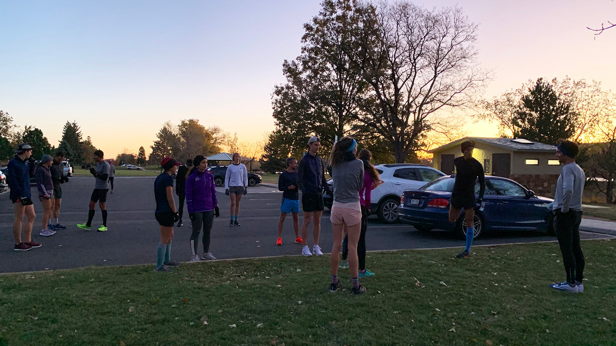 getting up early with running group