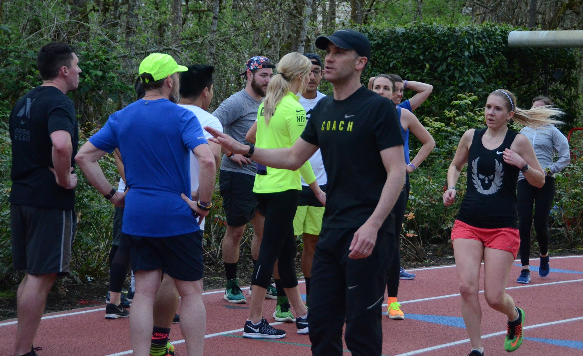 Chris Bennett coaching Nike+Run group