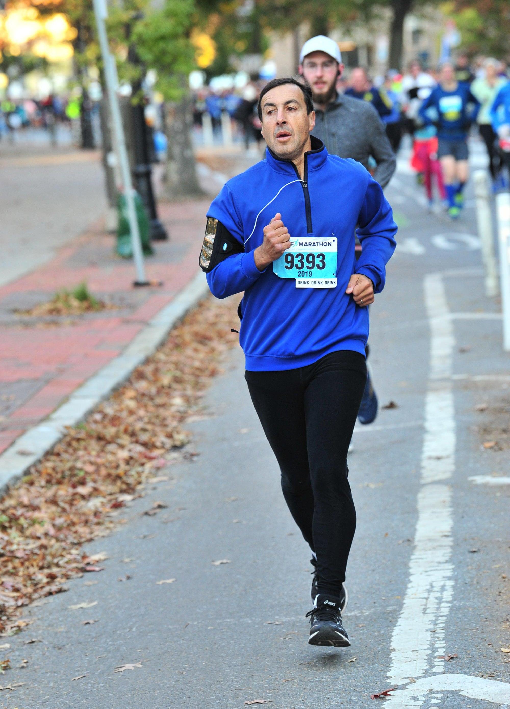 Lowenstein running a half marathon