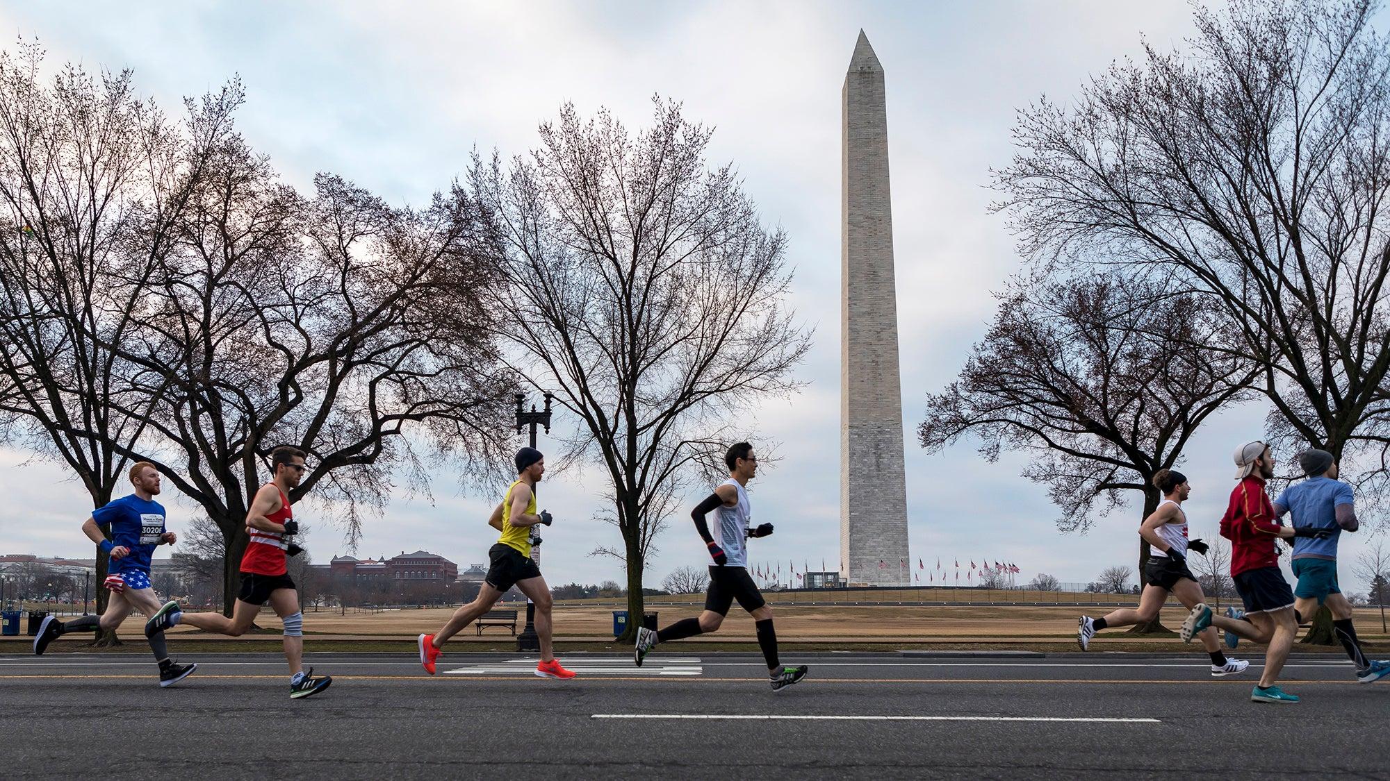 runners in a half marathon