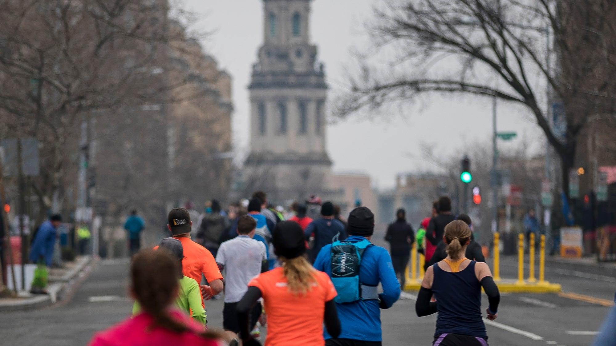 racers in a half marathon