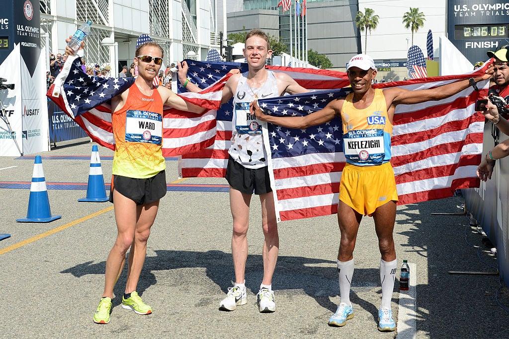 Ward, Rupp and Keflezighi Olympic Marathon Trials 2016