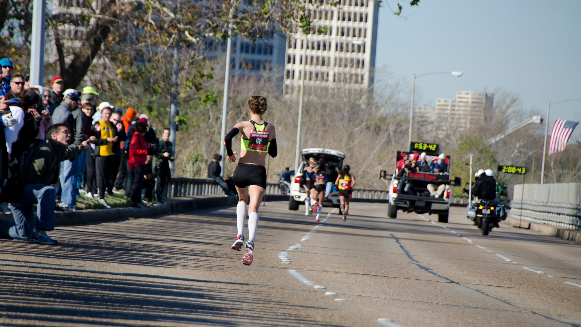 Amy Cragg in 4th, Olympic Marathon Trials Houston 2012