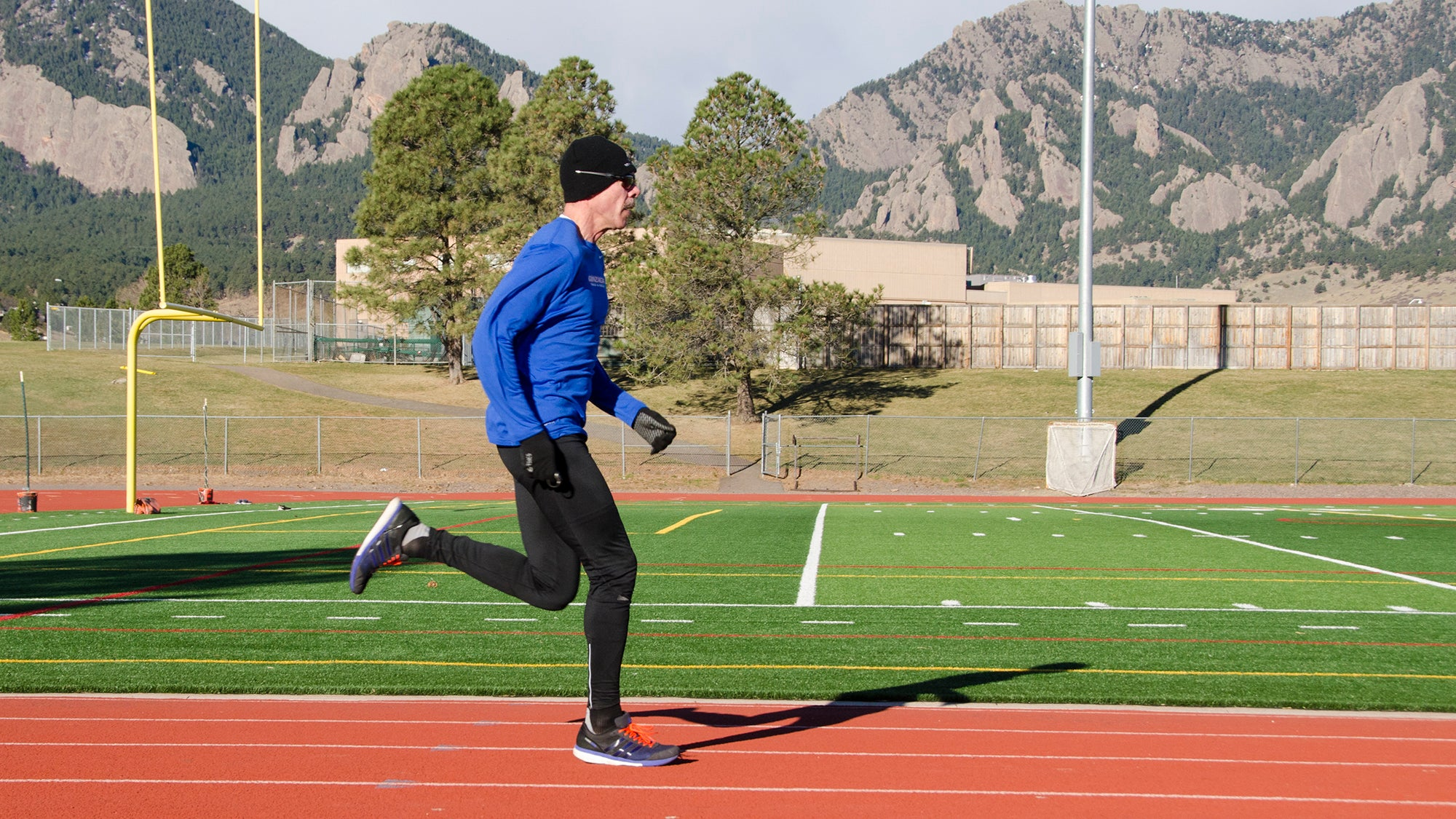 masters runner training on track