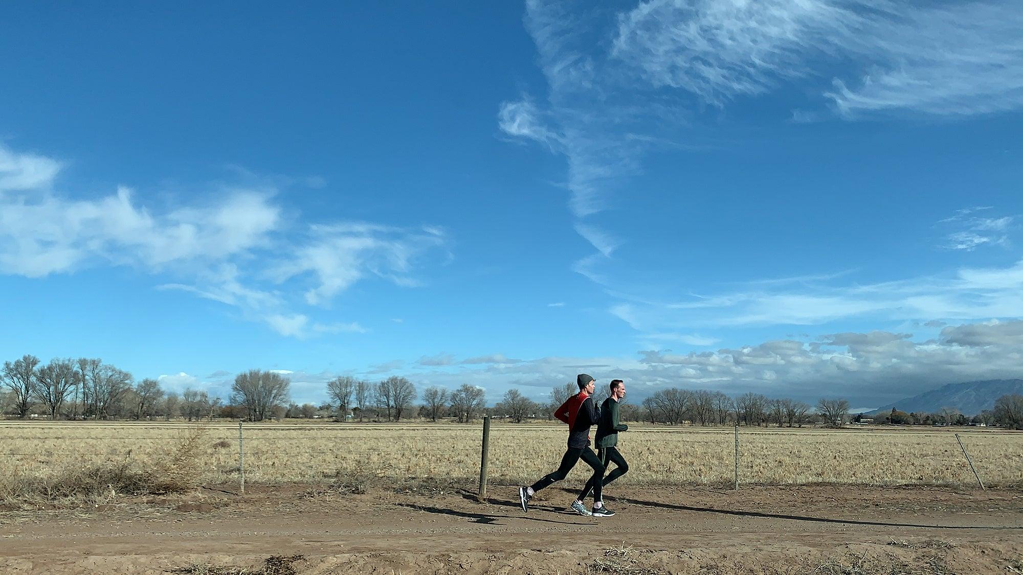 Matt McDonald training in Albuquerque for Olympic Trials
