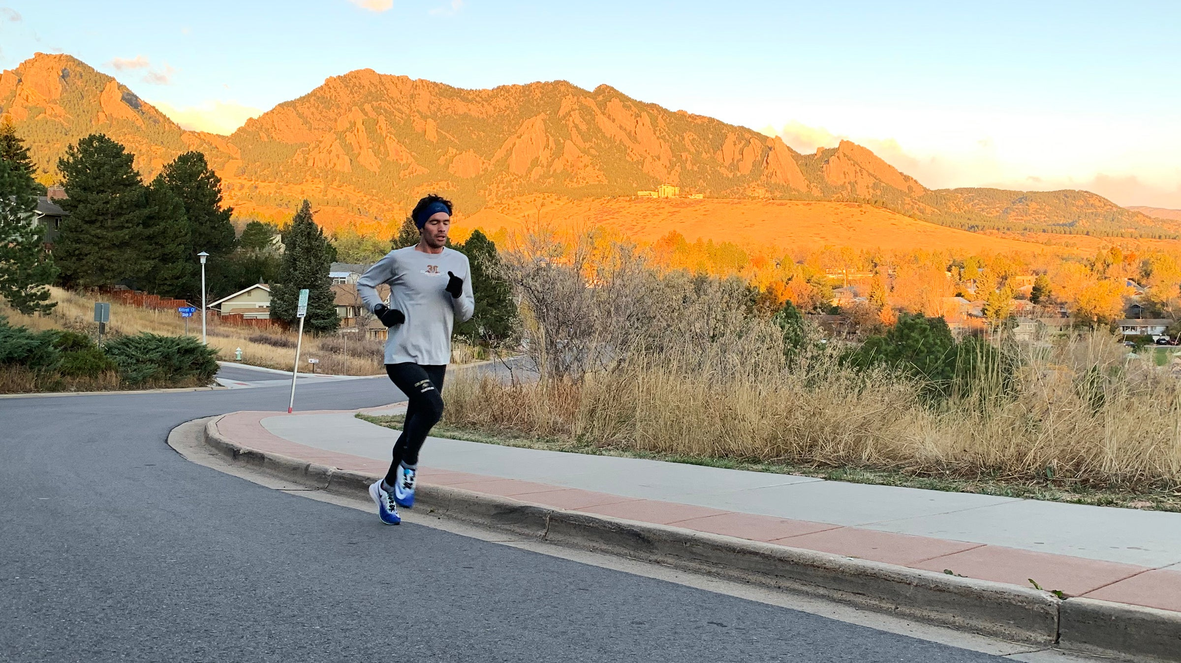Runner doing hill workout