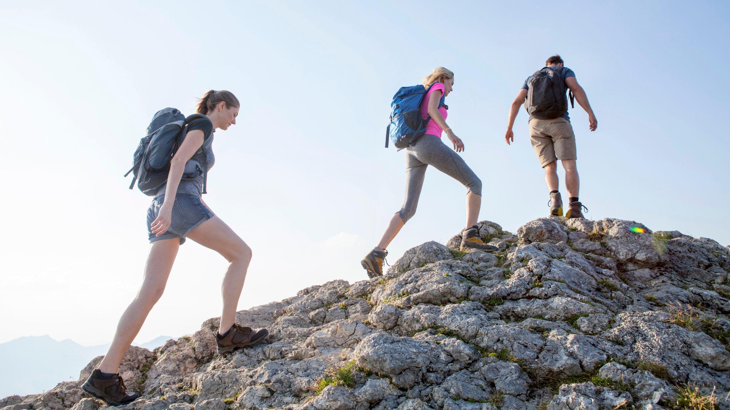 variable terrain while hiking