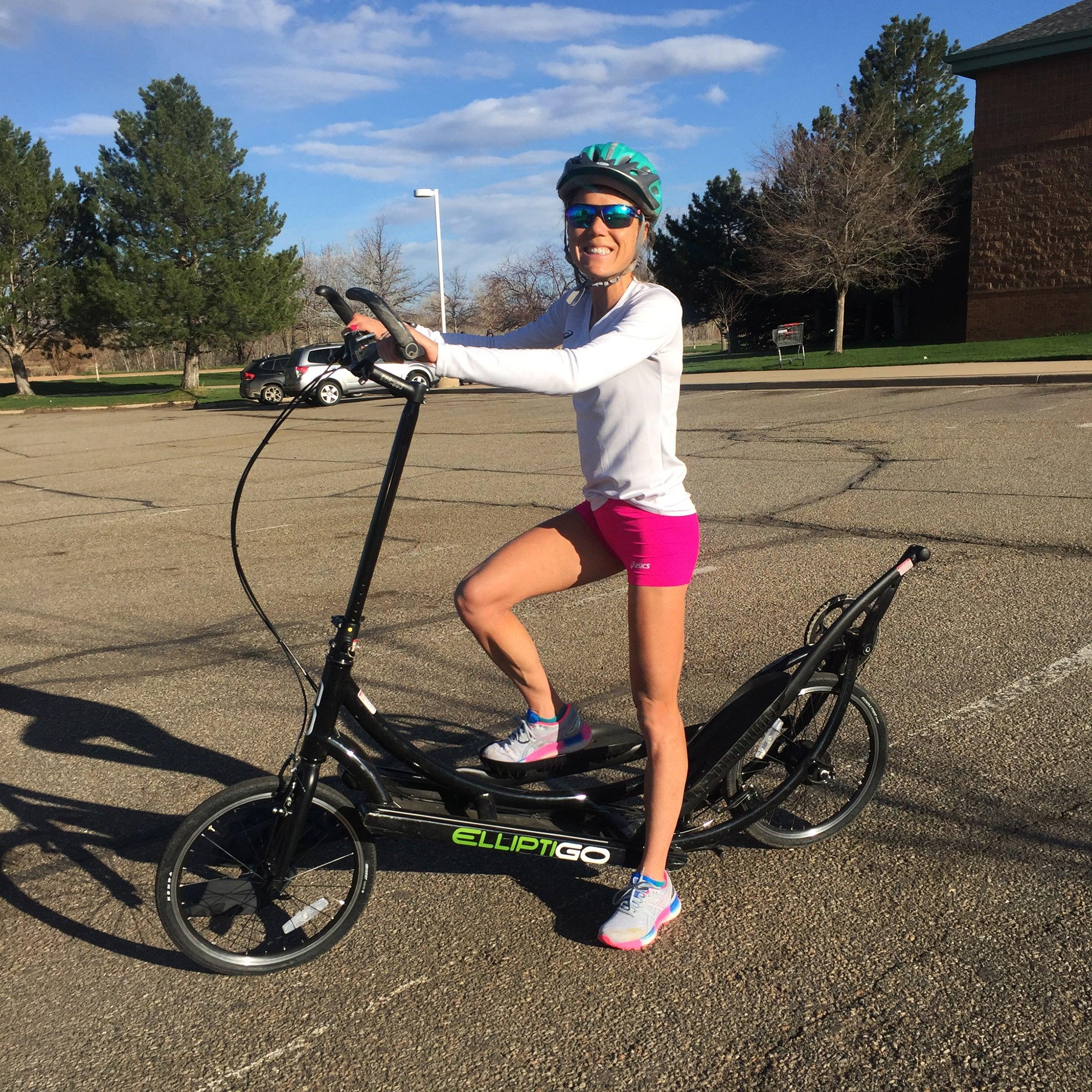 Lindsay Flanagan training on Elliptigo