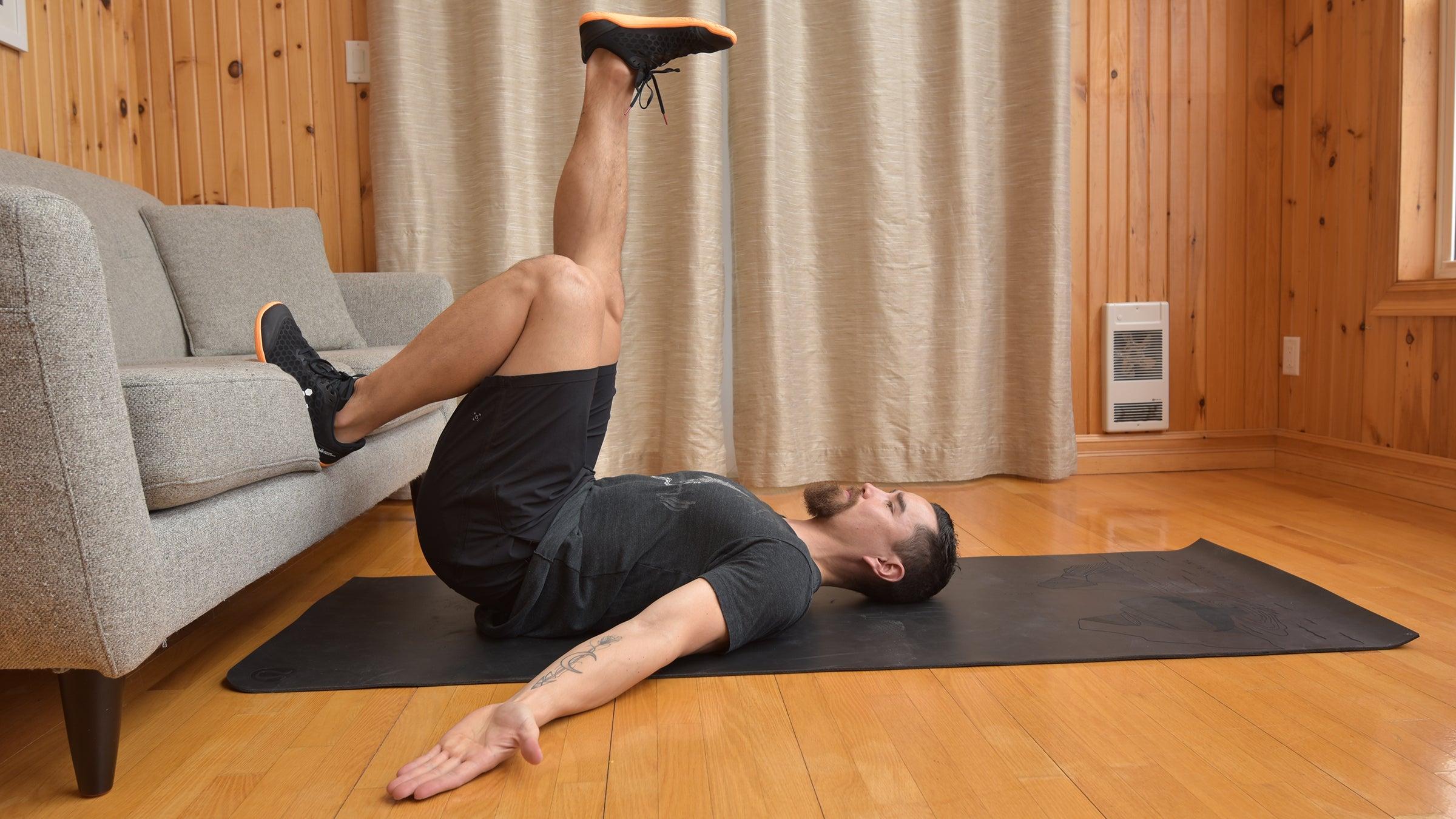 single-leg hip lift glute exercise