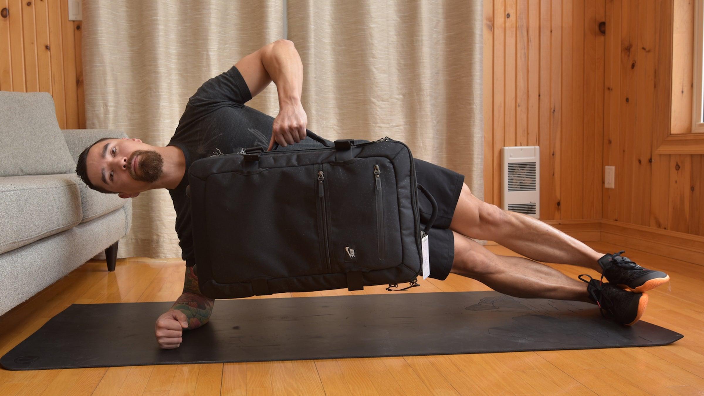 side luggage lift plank