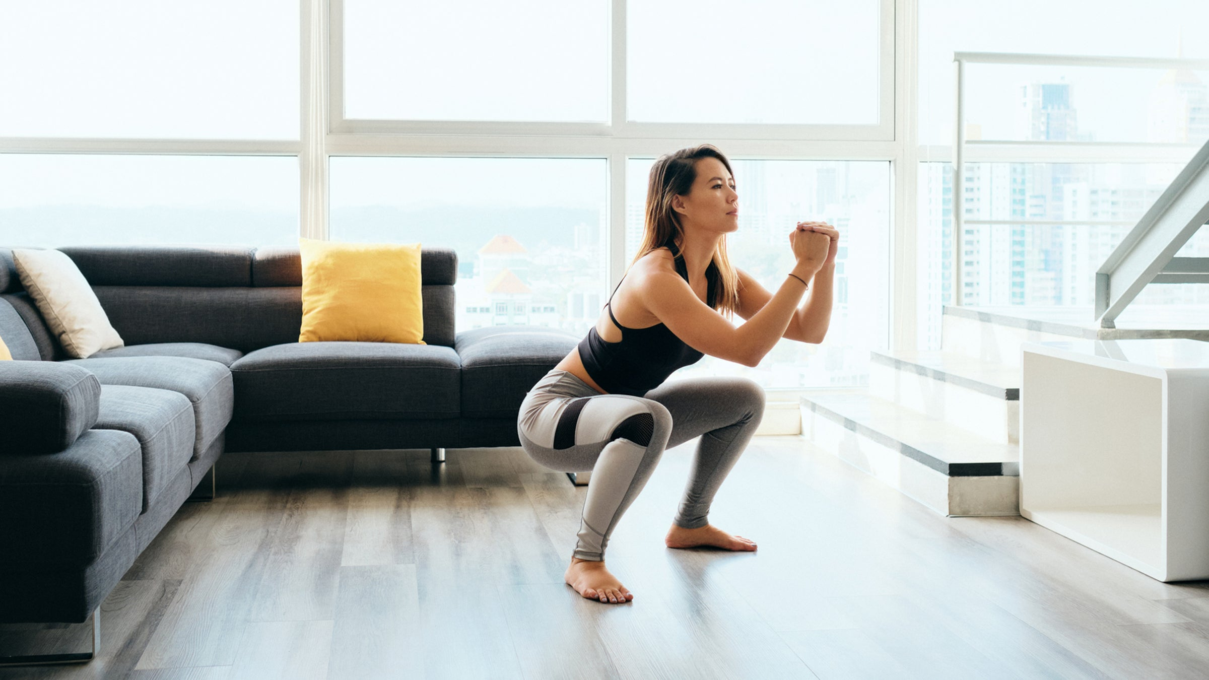 squat exercise at home