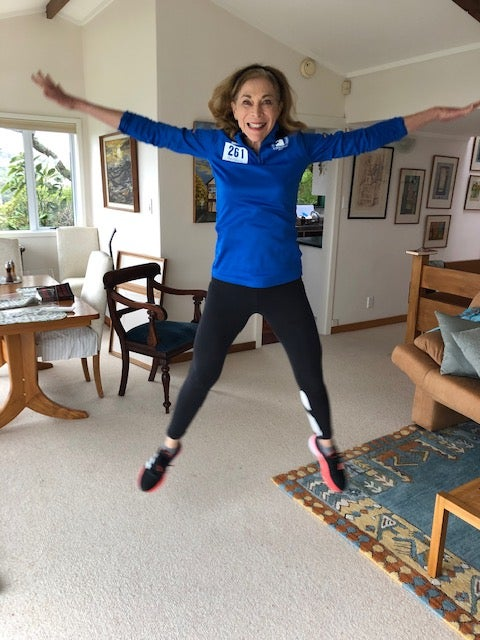 Kathrine Switzer's early morning work-out with global 261 Fearless charity women
