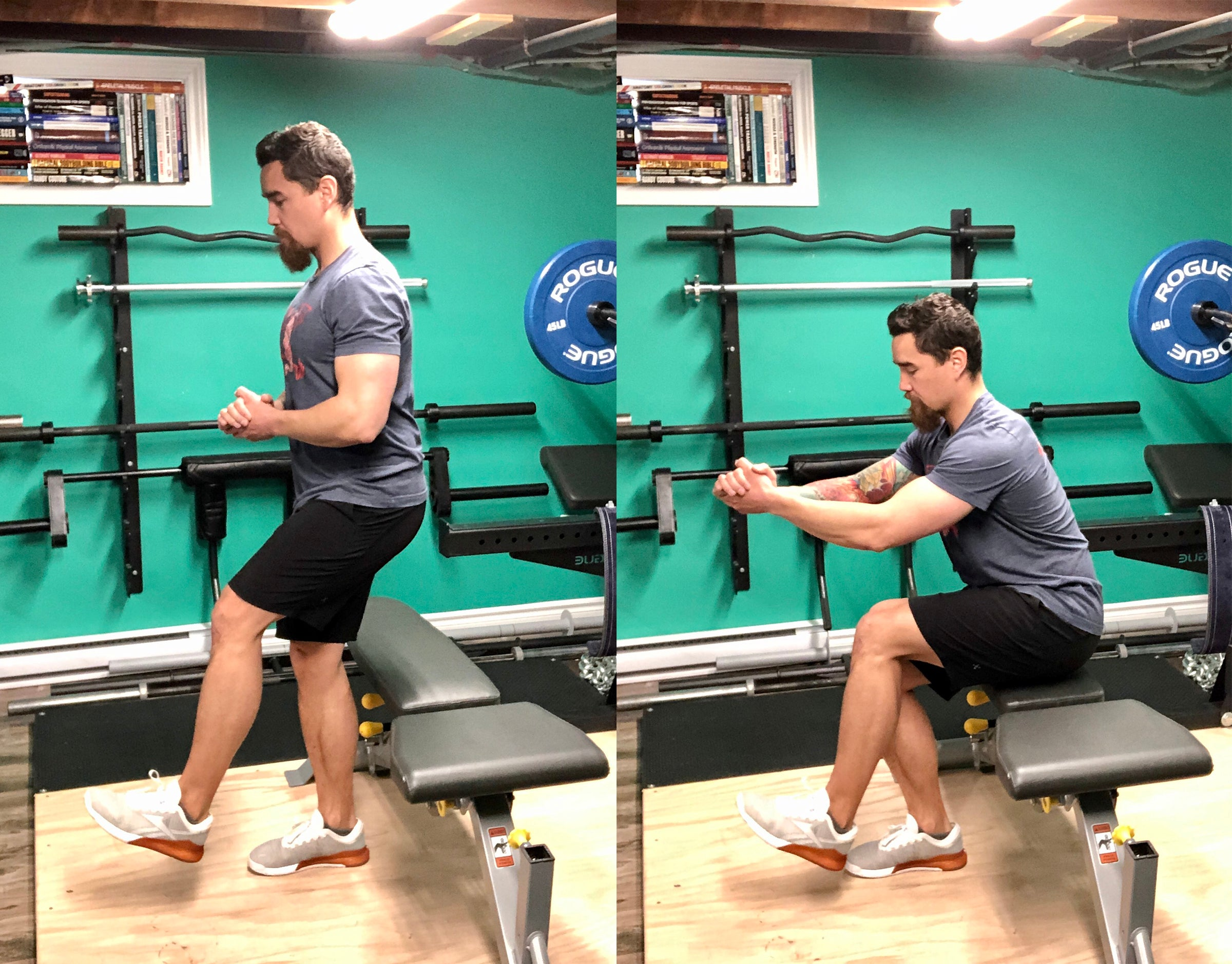 single leg bench squat