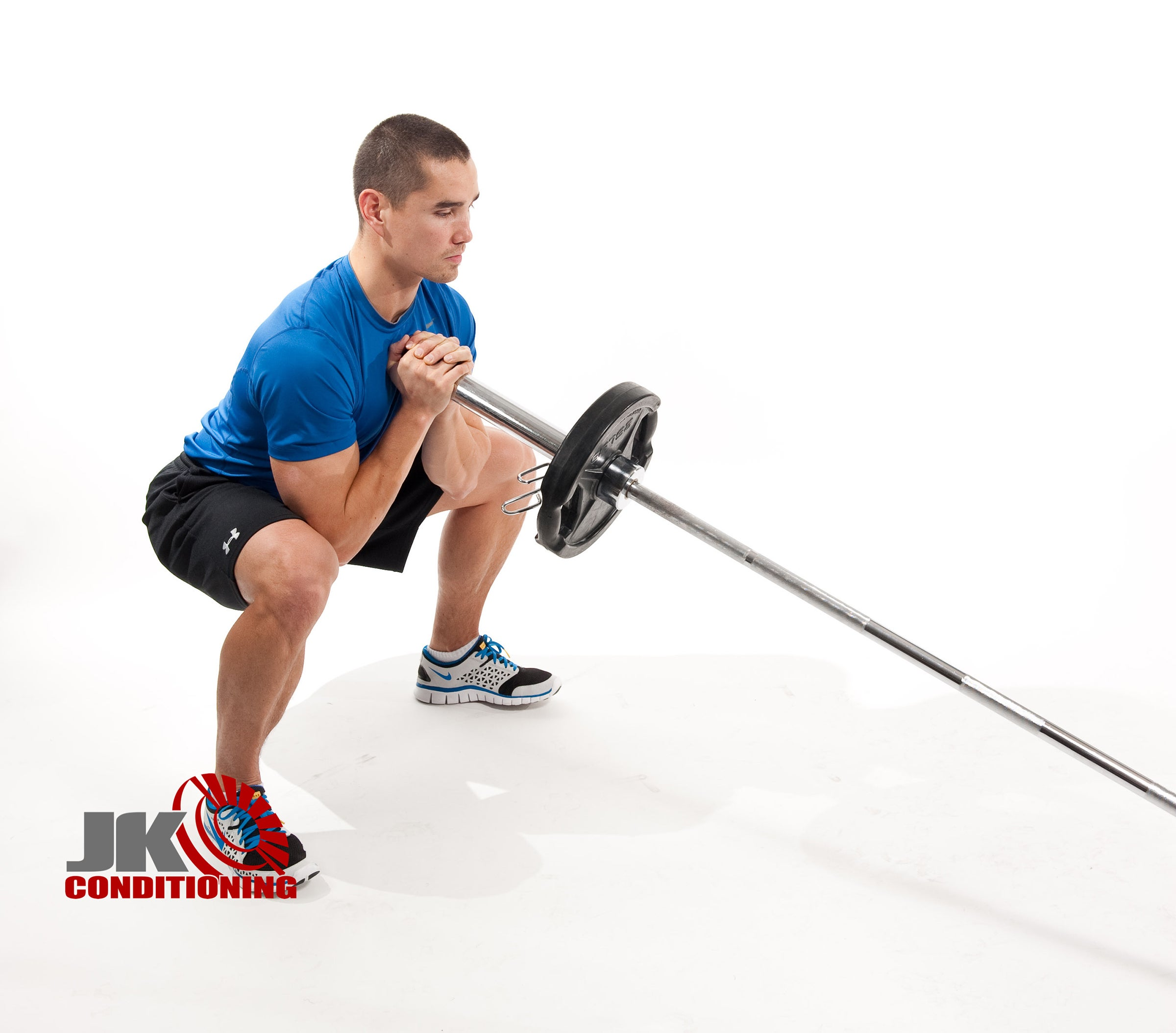 angled barbell squat