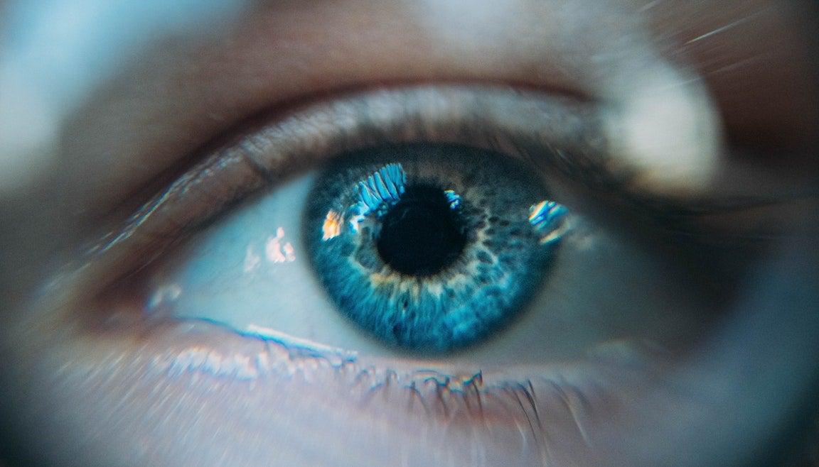 Close-up of a blue human eye