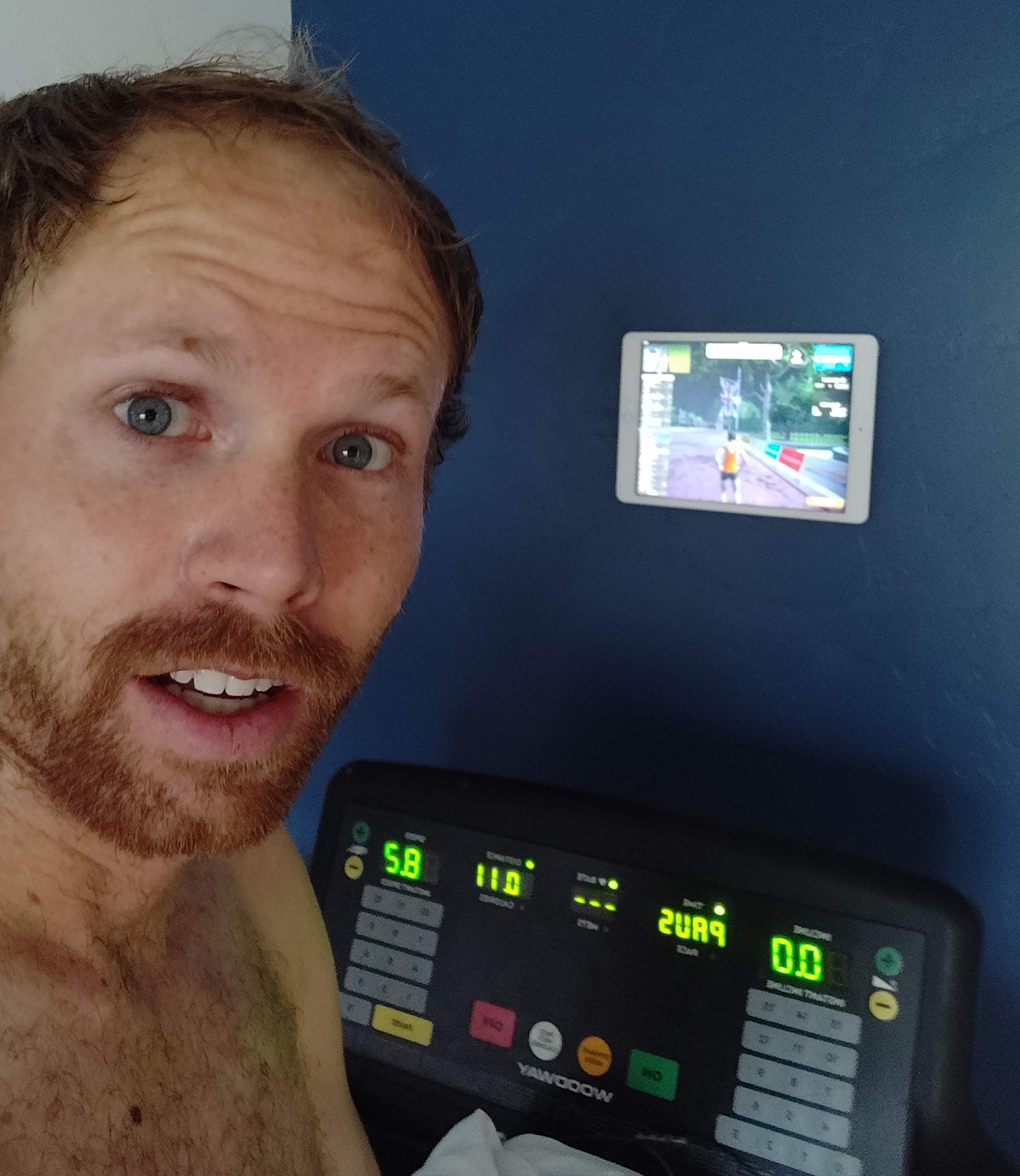 Jared Ward training in basement
