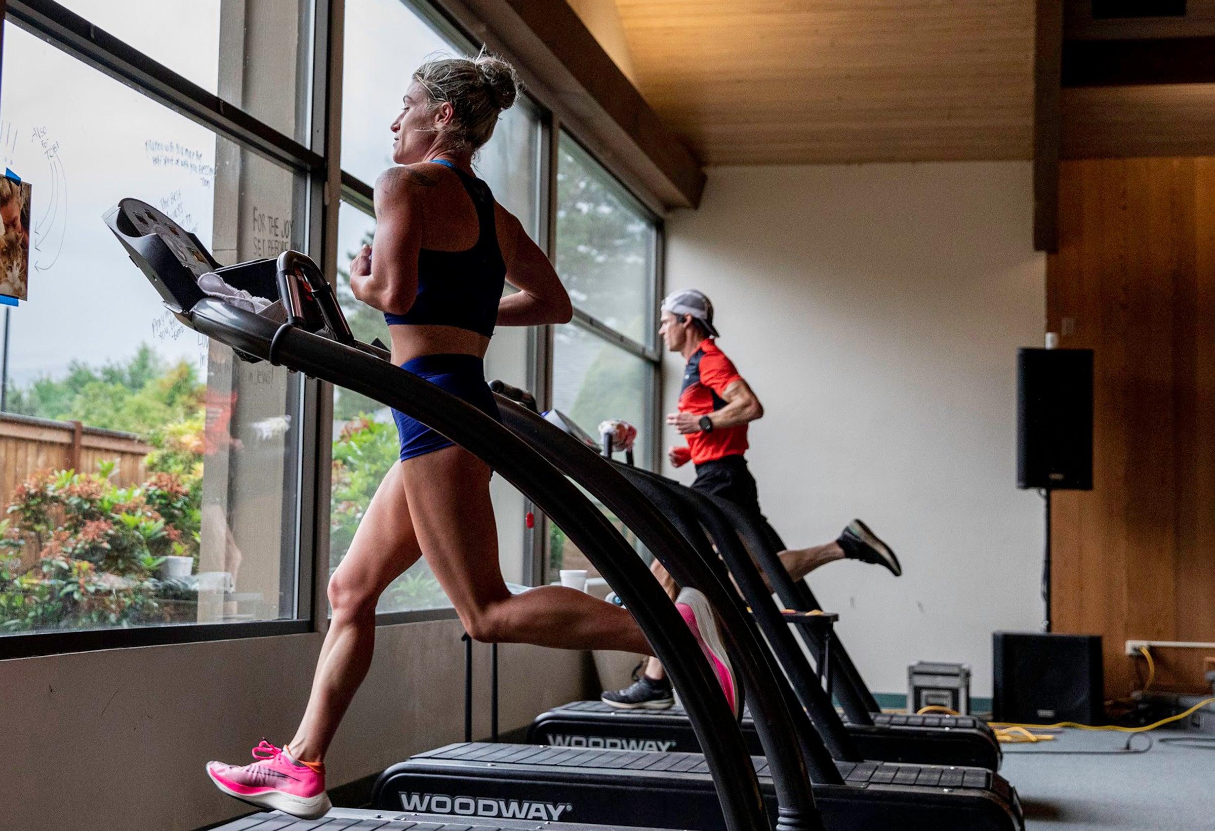 Metivier comeback treadmill record