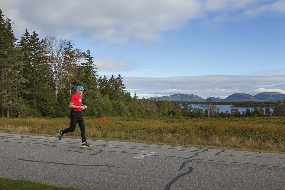 Gary Allen training by feel on Great Cranberry Island