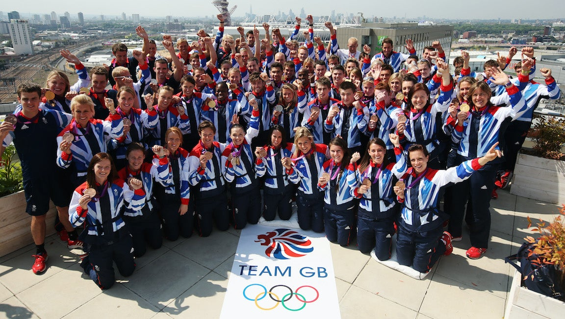 GB olympic team gathers for picture