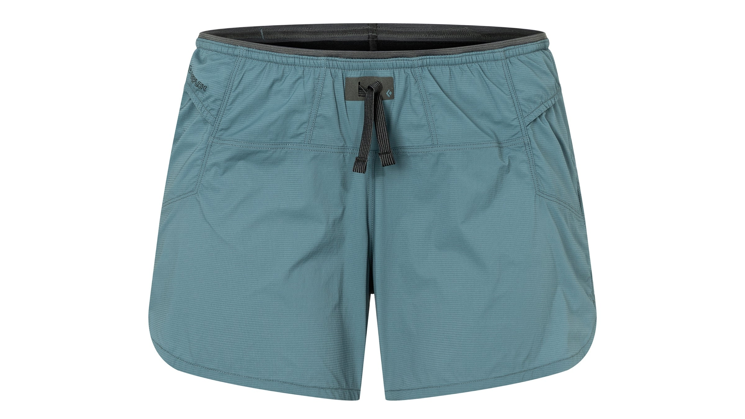 Women's dark teal Black Diamond sprint shorts
