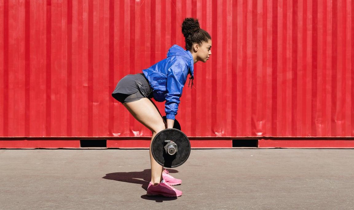 Woman lifting.