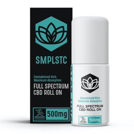 Rollo de CBD de espectro completo de Smplstc en la imagen del producto