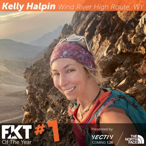 Selfie picture of Kelly Halpin with official FKT filter.