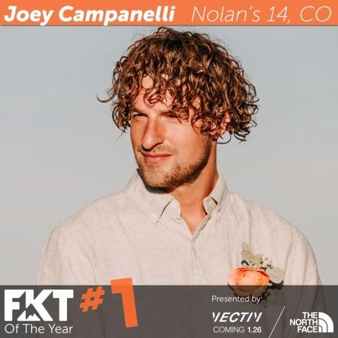 Joey Campanelli con el filtro oficial FKT # 1 sobre su imagen.