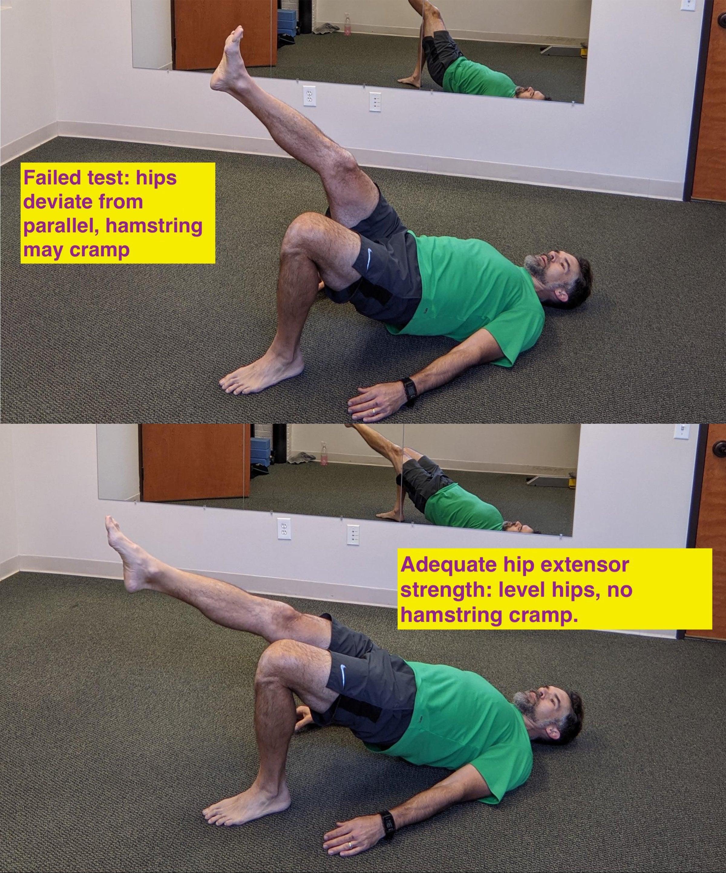 Hip extensor strength assessment