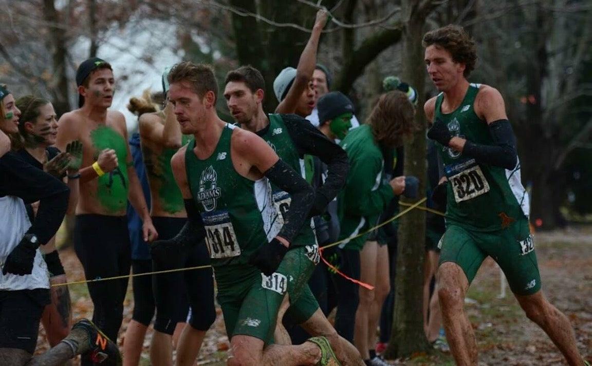 Matt Daniels running in a cross country meet in college.