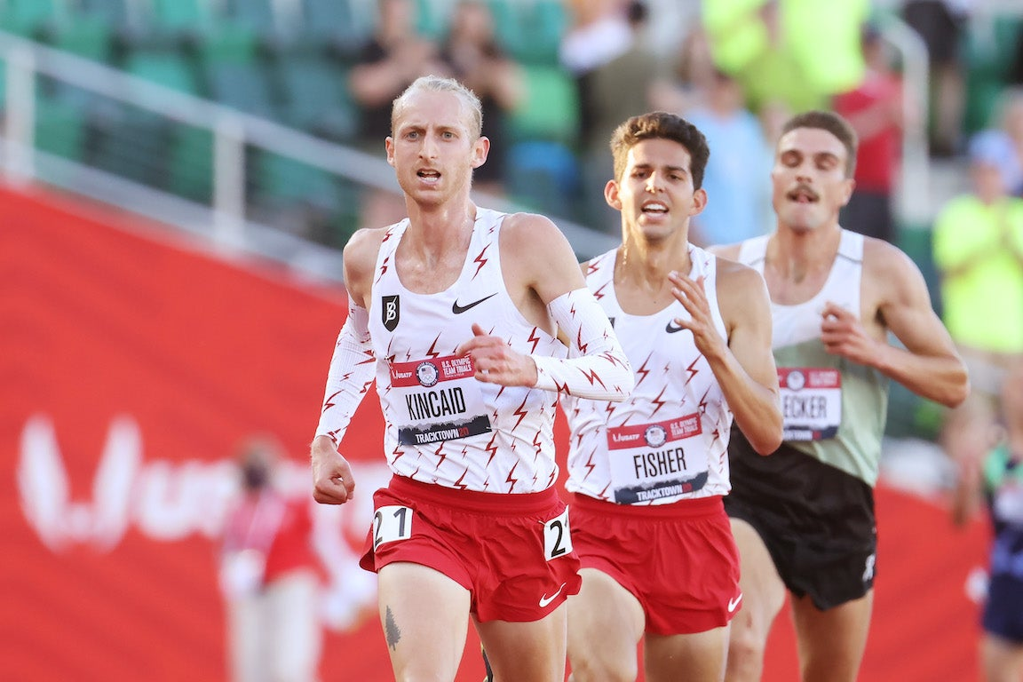 Top three men in the men's 10K at the Olympic Trials.