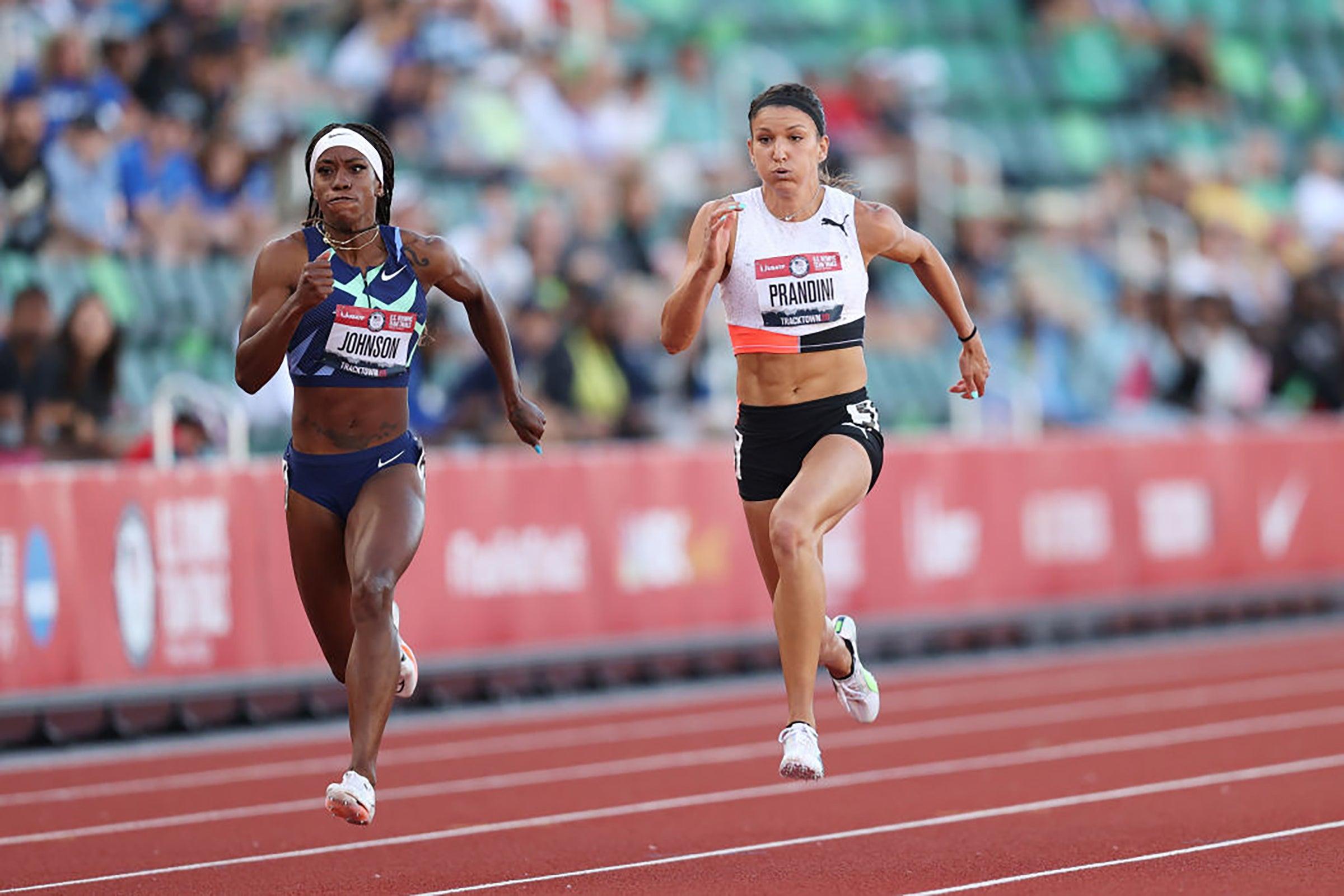 Women's 100m Olympic Trials race